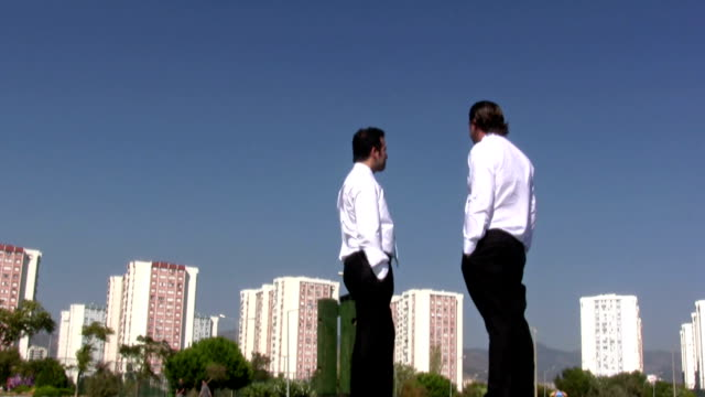 Two Businessmen Standing video