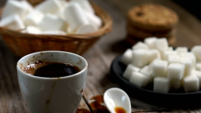Two cups of hot coffee - vídeo