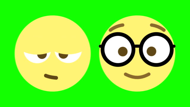 stockvideo's en b-roll-footage met twee emoji animaties voor slaperig en nerdy - sleeping illustration