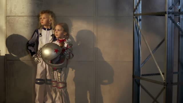 Two Girls Astronauts