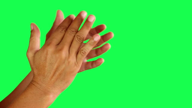 Two hands clap on green screen background Two hands clap on green screen background applauding stock videos & royalty-free footage