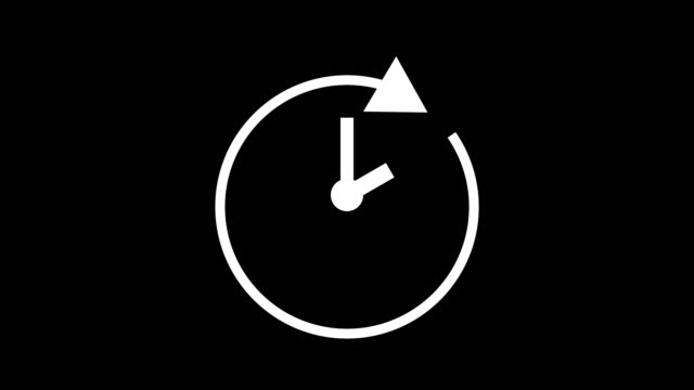 two hour, stopwatch animated icon clock with moving arrows simple animation. time counter symbol stock video - dzień filmów i materiałów b-roll