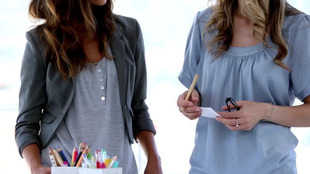 Two interior designers in creative office video