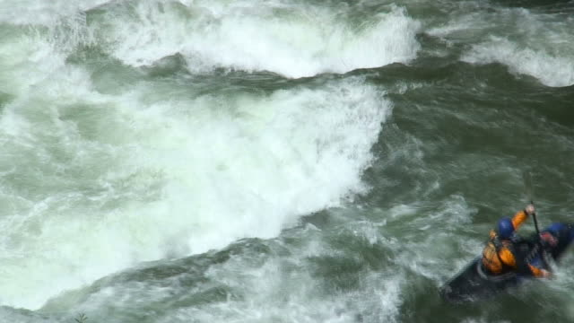 Two kayaks in whitewater video