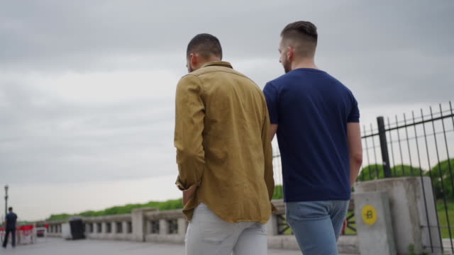 Two men in relationship enjoying overcast day in Argentina Two men in relationship enjoying beautiful day in Argentina gay man stock videos & royalty-free footage