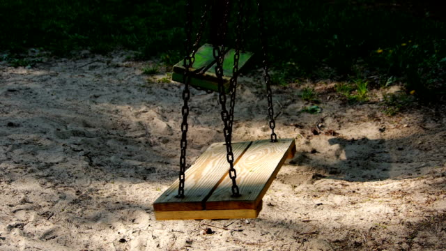 Two moving swings. video