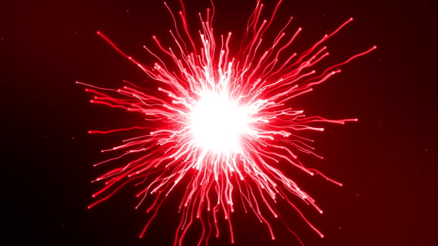 Two particles fly at each other and explode video