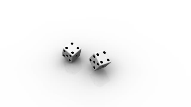 Two rolling dice video
