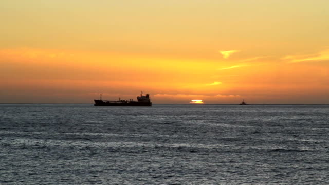 Two ships sunset video