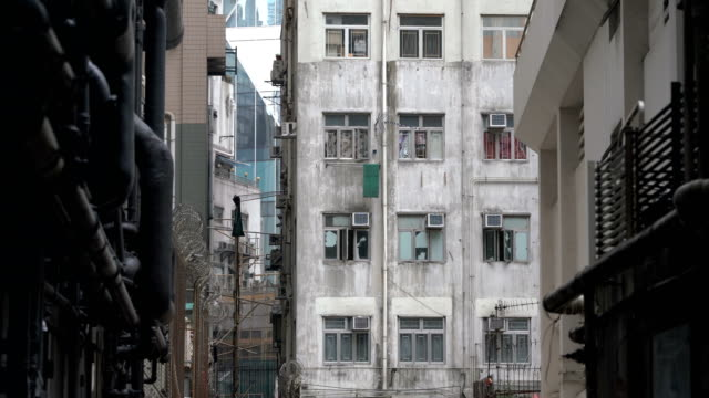 Two Shots of Old Apartment in Hong Kong
