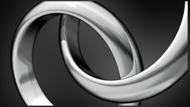 Two silver rings composition video