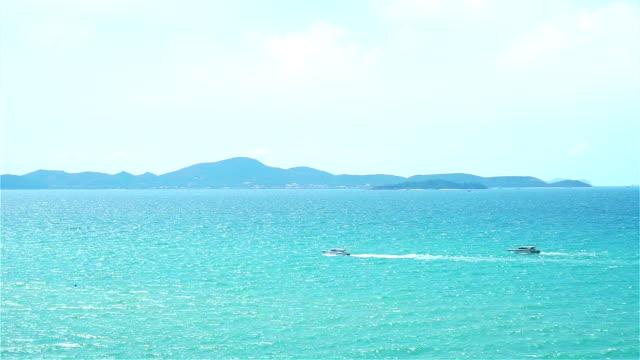 Two speed Boat on the sea Two speed Boat on the Pattaya sea, Thailand daylight savings stock videos & royalty-free footage