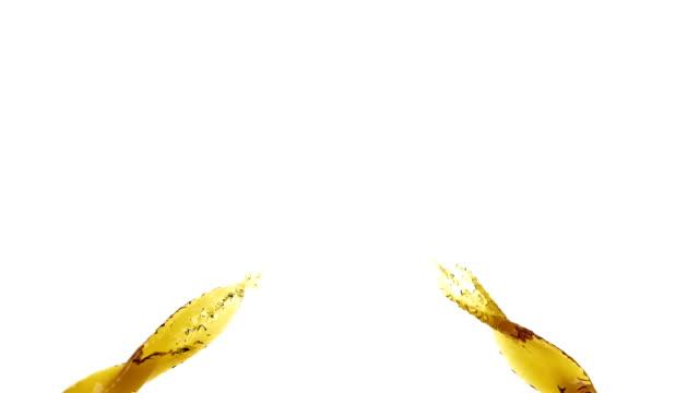 two streams of oil spray video