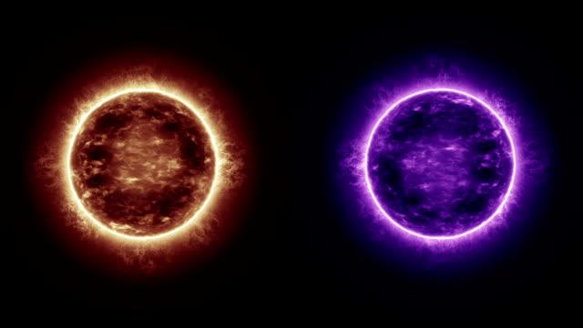 due sole - due oggetti video stock e b–roll