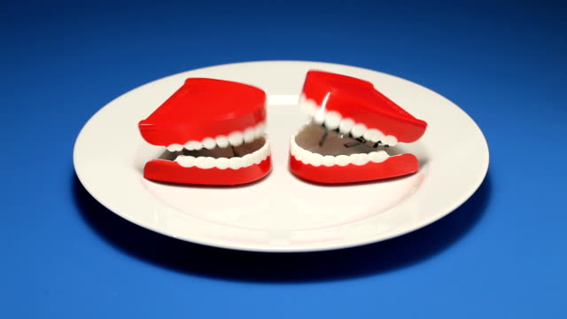 due denti di discussione - bocca video stock e b–roll