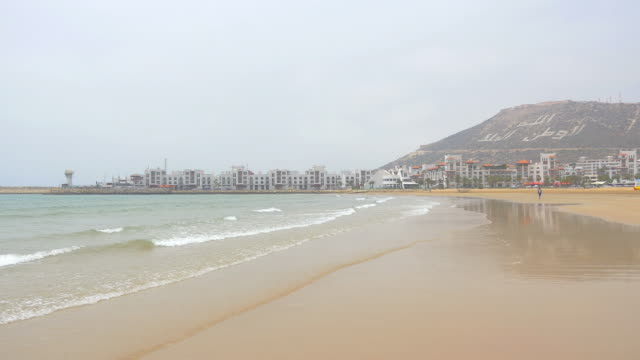 Two videos of beach in Agadir, Morocco in 4K video