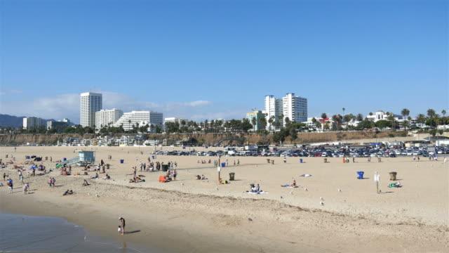 Two videos of beach in Santa Monica in 4K video