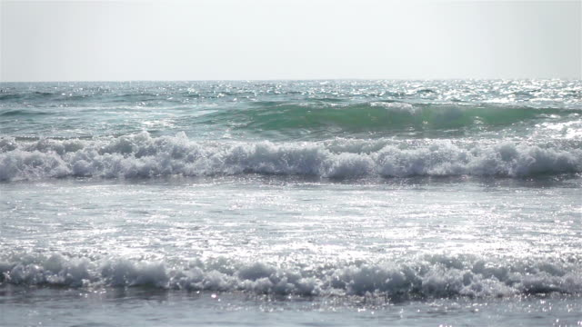 Two videos of ocean waves in real slow motion video