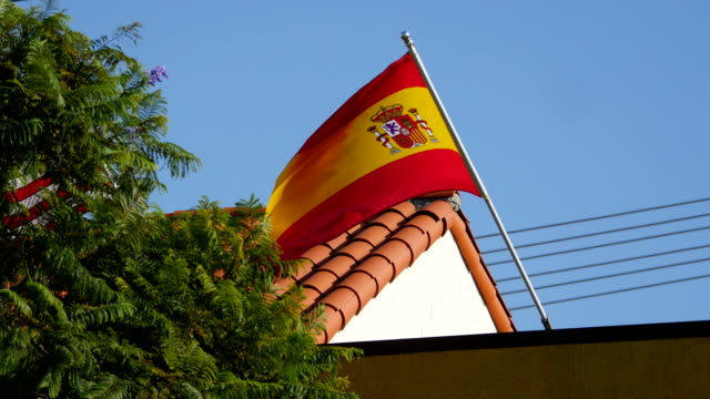 Two videos of Spanish Flag in 4K video