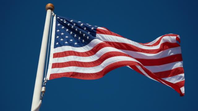 Dois vídeos dos EUA bandeira em 4 k - vídeo