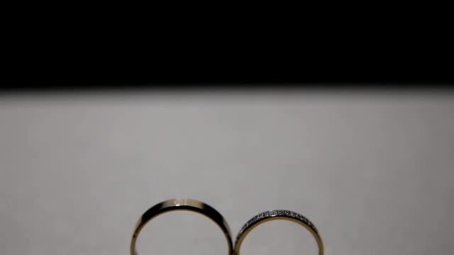 Two wedding rings video