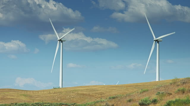 Two Wind Turbines video