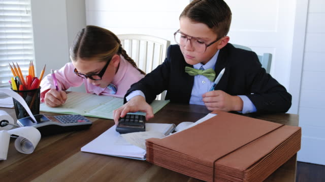 Two Young Accountants At Work