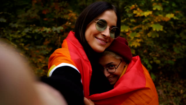Two young lesbian girls take a selfie,point of view Two young lesbian girls take a selfie,point of view lgbtqi rights stock videos & royalty-free footage