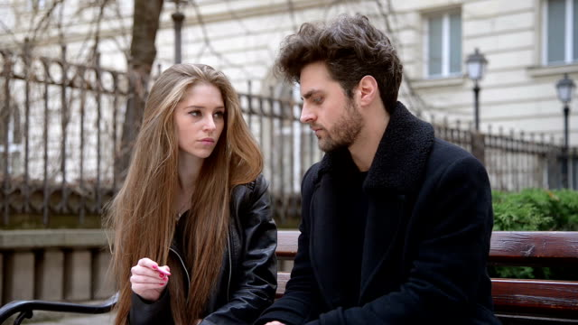 Two young people with long standing relationship want to break. Two young people with long standing relationship want to break. Couple breaks up. relationship breakup stock videos & royalty-free footage