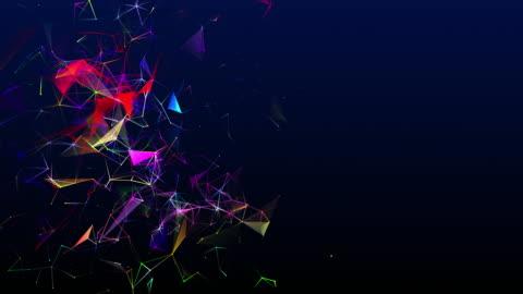 vídeos y material grabado en eventos de stock de bucle de forma bidimensional y colores cambiantes en forma de líneas interconectadas - imagen en bucle