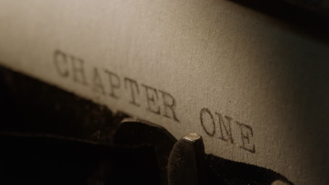 LD Type bars of old typewriter printing out CHAPTER ONE video