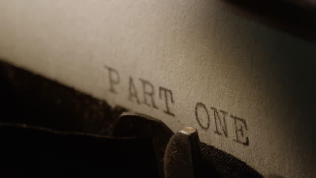 LD Type bars of old typewriter printing out PART ONE video