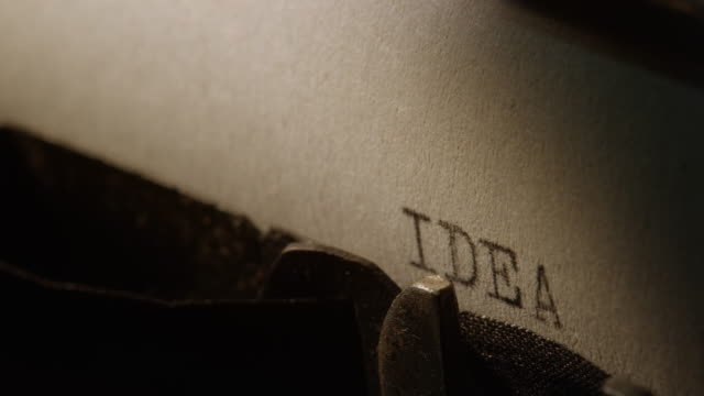 ld type bars of old typewriter printing out word idea - idea stock videos & royalty-free footage