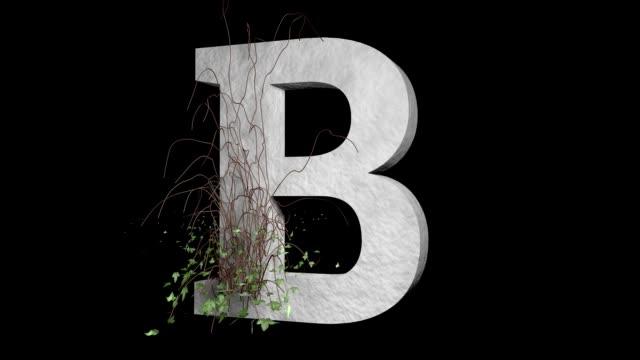 Türü harf B. sarmaşık taş alfabe büyüyen video