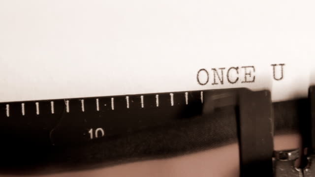 ONCE UPON A TIME. Typewriter. Introduction to the script. video