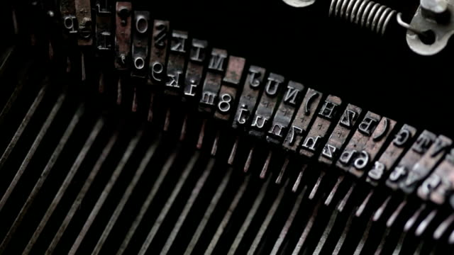 Typewriter keys macro video