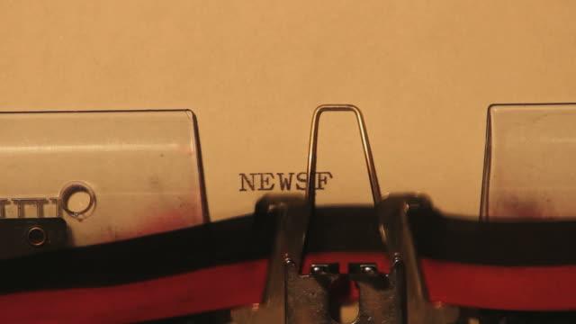 Typewriter: NEWSFLASH video