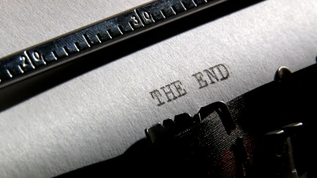 Typewriter, The end video