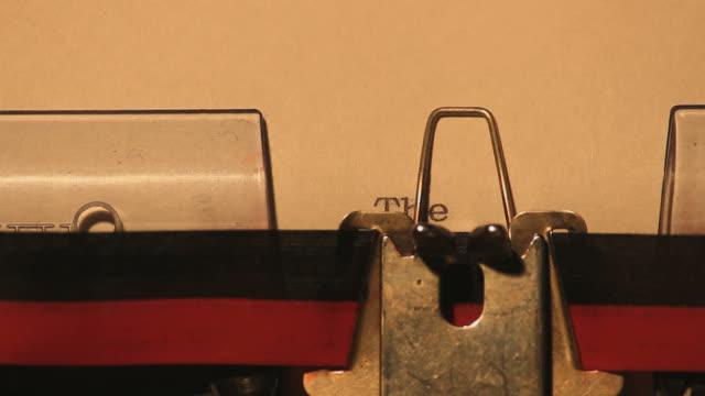 Typewriter: The End video