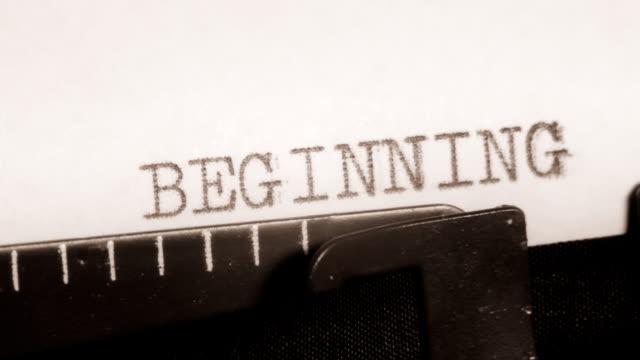 BEGINNING. THE END. MORE. Typewriter. Typing. video