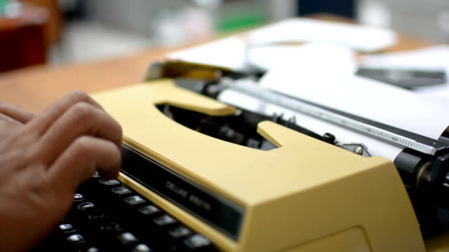 typewriter video