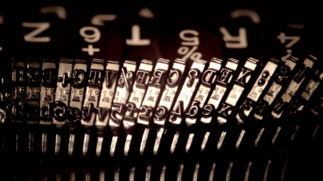 Typewriting. Movable types. video