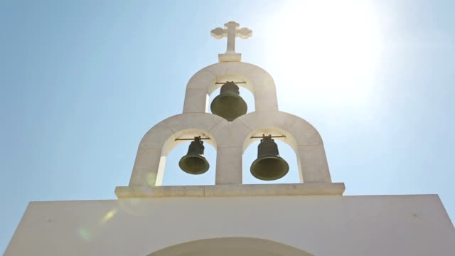 Typical church in Greece small village video