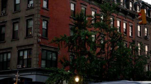 Typical Evening Apartment Building Establishing Shot video