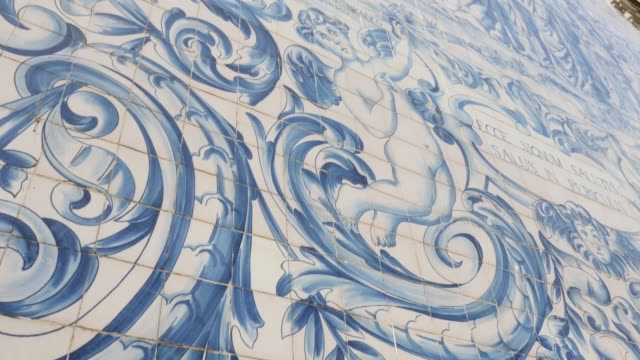 Typical Portuguese Tile-Work video