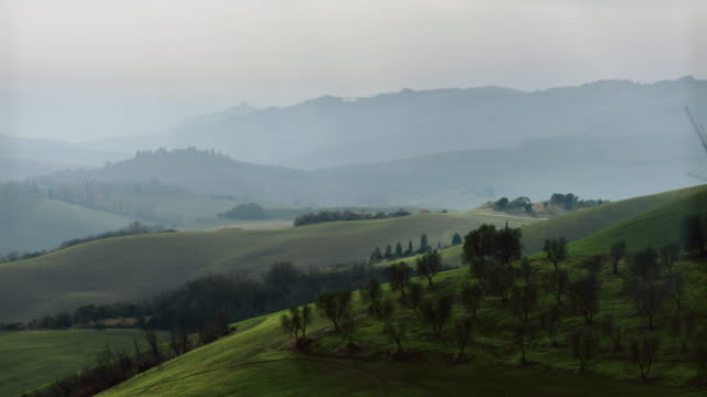 Typical Tuscany view: Chianti and Val d'Orcia video