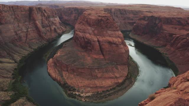 Typische Ansicht der Horseshoe Bend und Colorado river – Video
