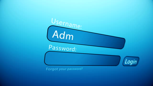typing an username and password on the web page. close up of the web page with login empty form for type an username and password. - modulo documento video stock e b–roll