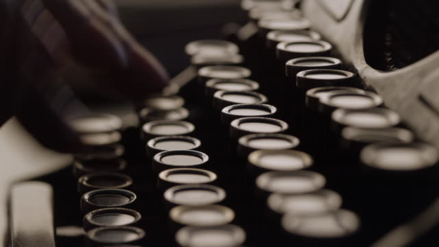 LD Typing by pressing the keys of typewriter in hurry Locked down close up shot of the fingers pressing the keys on the old typewriter in a hurry. typewriter stock videos & royalty-free footage