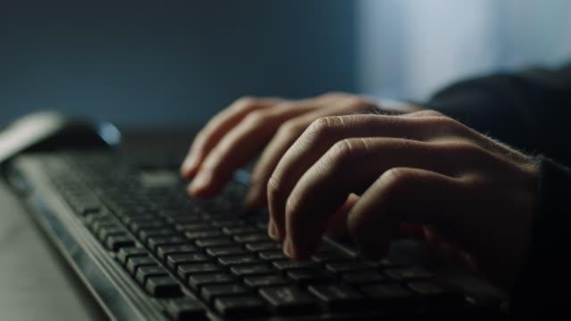 Typing on keyboard!